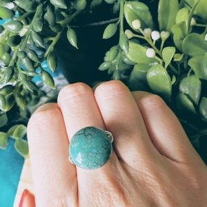 🍍2/$15 Handmade Turquoise Color Adjustable Ring